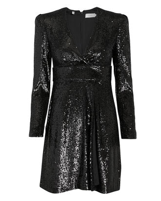 Mara Sequin Dress, BLACK, hi-res
