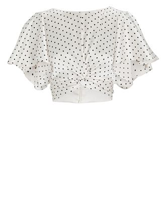 Palmera Polka Dot Crop Top, WHITE/BLACK, hi-res