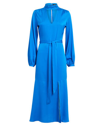 Shay Silk Charmeuse Dress, BLUE-MED, hi-res