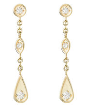 Marquis Diamond Earrings, GOLD, hi-res