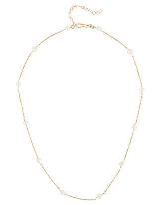 Meghan Pearl Chain Necklace, GOLD, hi-res