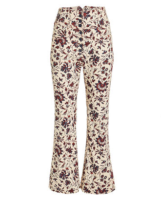 Ellis High Waisted Floral Jeans, IVORY/RED FLORAL, hi-res