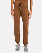 High-Rise Knit Joggers, BROWN, hi-res