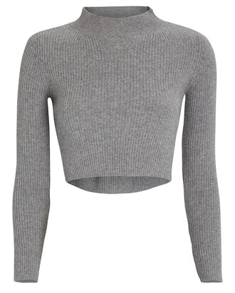 Enny Cropped Wool-Cashmere Sweater, , hi-res