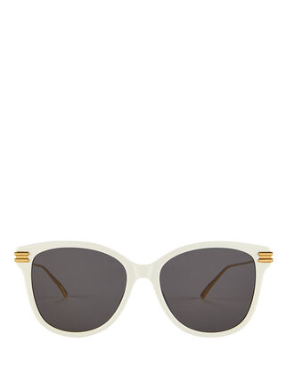 Oversized Rectangle Sunglasses, WHITE, hi-res