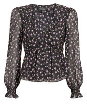 Alma Printed Top, DARK FLORAL, hi-res