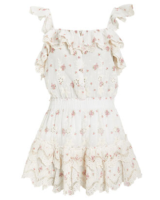 Marina Cotton Eyelet Dress, WHITE/FLORAL, hi-res