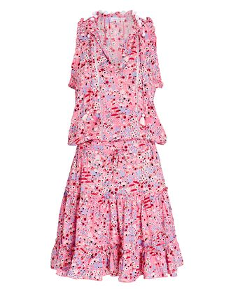 Clara Sleeveless Floral Dress, PINK, hi-res