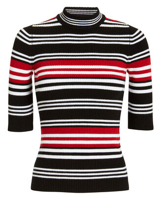 Striped Mock Neck Top, MULTI, hi-res