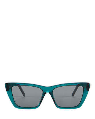 Mica Cat Eye Sunglasses, BLUE, hi-res