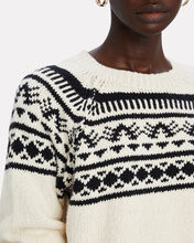 The Boat Square Cotton Sweater, IVORY/BLACK, hi-res