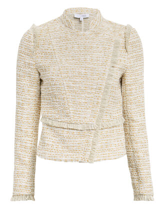 Mona Knit Jacket, BEIGE/GOLD, hi-res