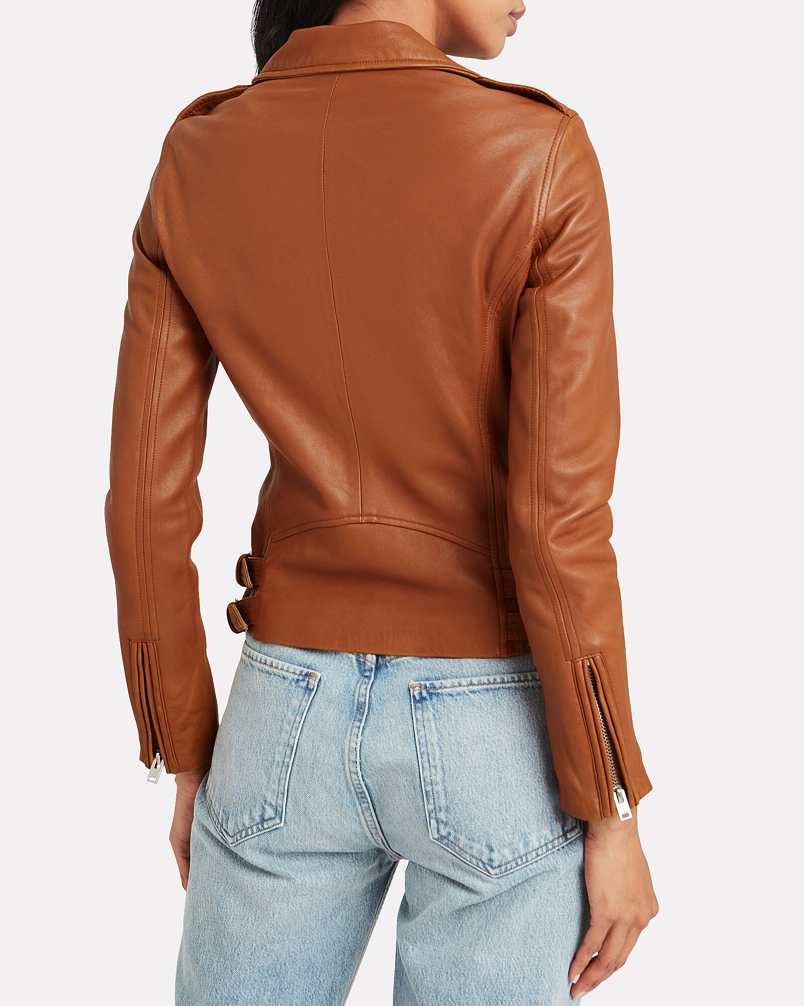 Han Leather Moto Jacket, CAMEL, hi-res