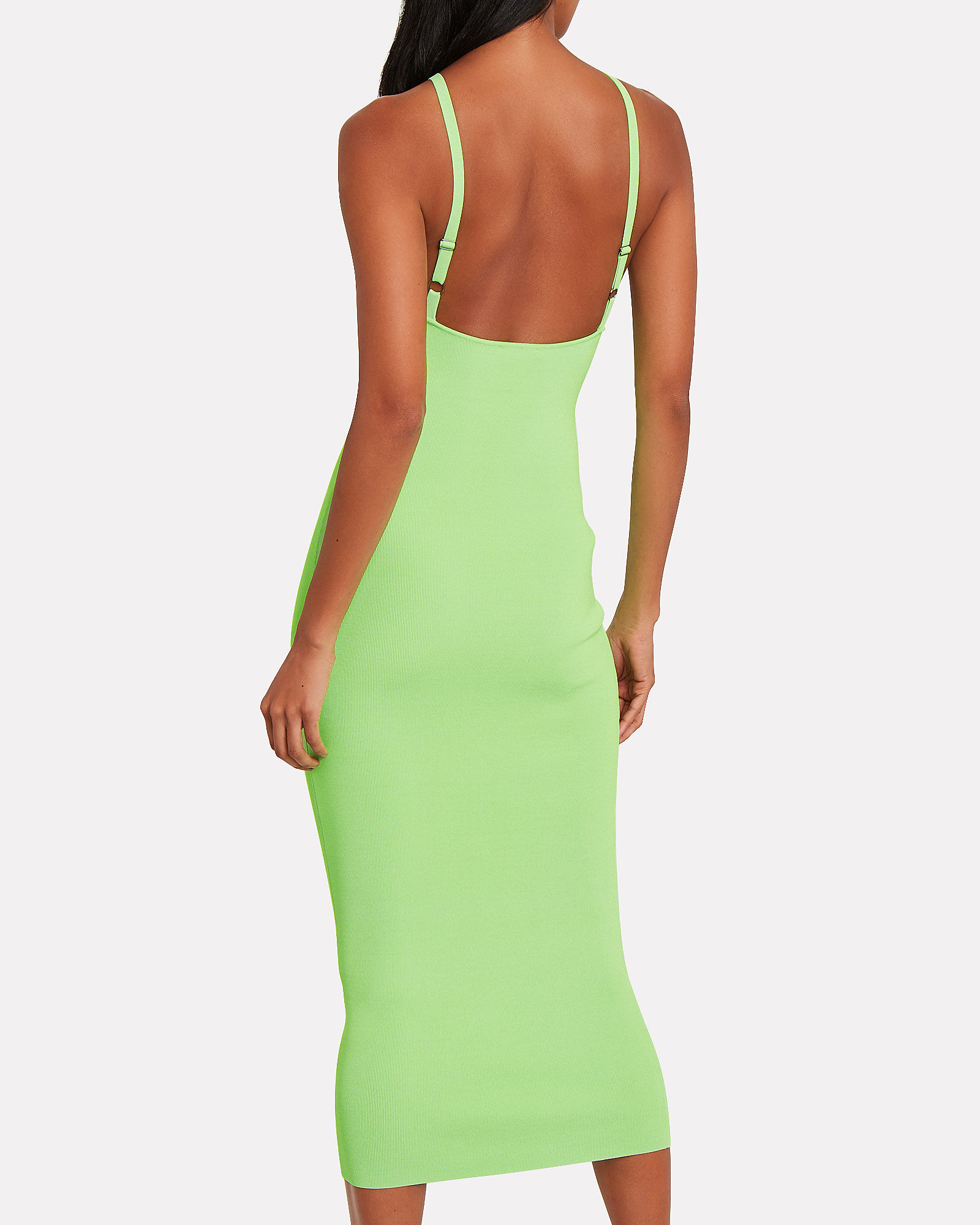 Jay Bandage Rib Knit Dress, GREEN-LT, hi-res