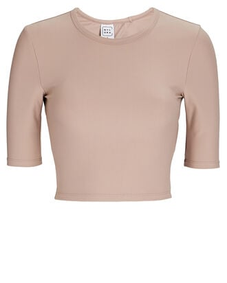 Athena Open Back Crop Top, BLUSH, hi-res