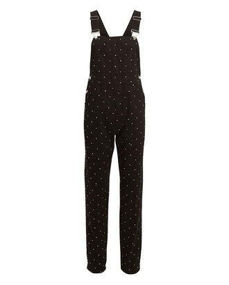 Basic Crystal-Embellished Overalls, BLACK, hi-res