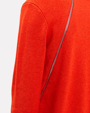 Zip Detail Red Sweater, RED, hi-res