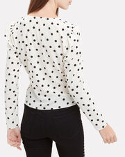 Nellie Polka Dot Top, BLK/WHT, hi-res