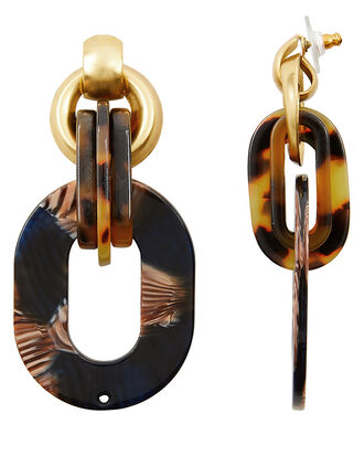 Sophia Interlocking Drop Earrings, GOLD/NAVY, hi-res
