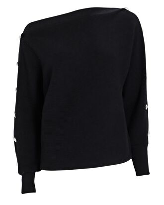 Breanne Buttoned Sweater, BLACK, hi-res