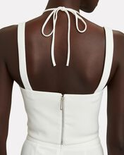 Cady Cut-Out Bustier Top, IVORY, hi-res