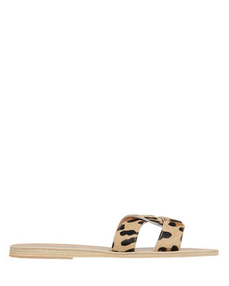 Desmos Leopard Sandals, BROWN/BLACK, hi-res