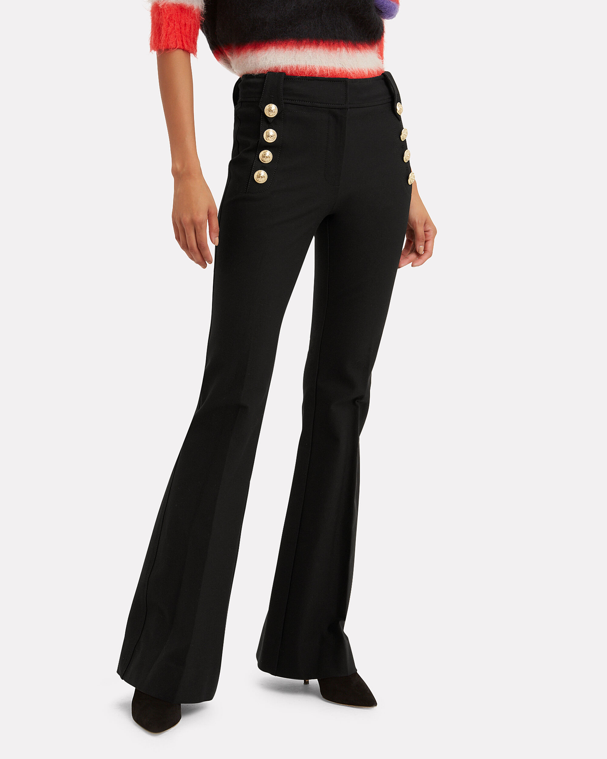 Robertson Flare Trousers, BLACK, hi-res