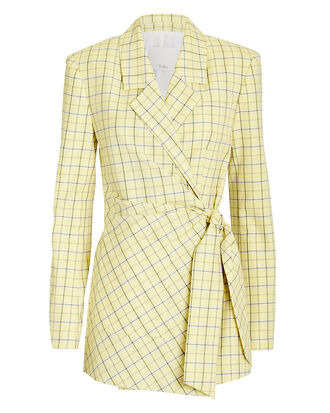 Marvel Plaid Wrap Jacket, YELLOW PLAID, hi-res