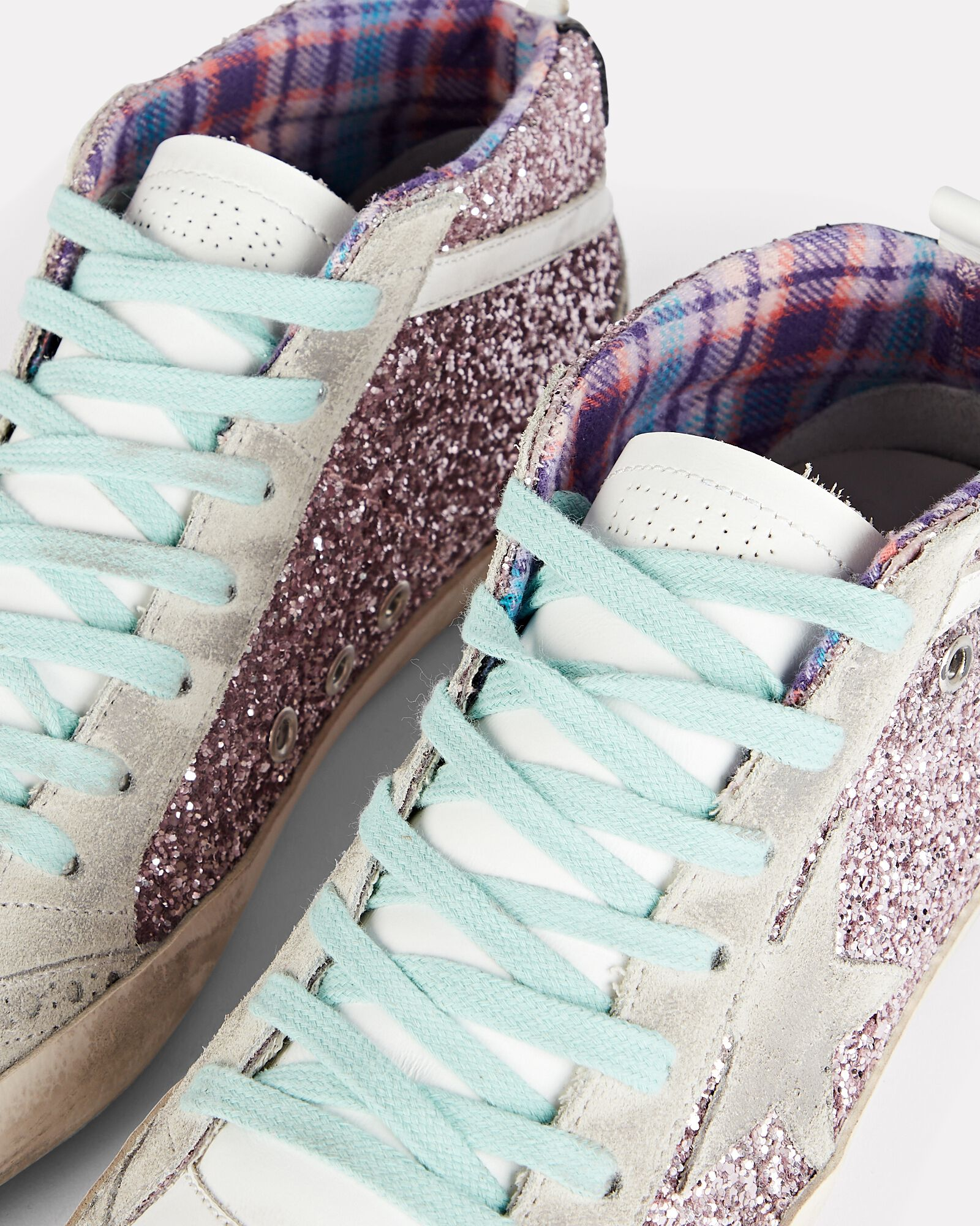 Mid Star Glitter Sneakers, PINK, hi-res