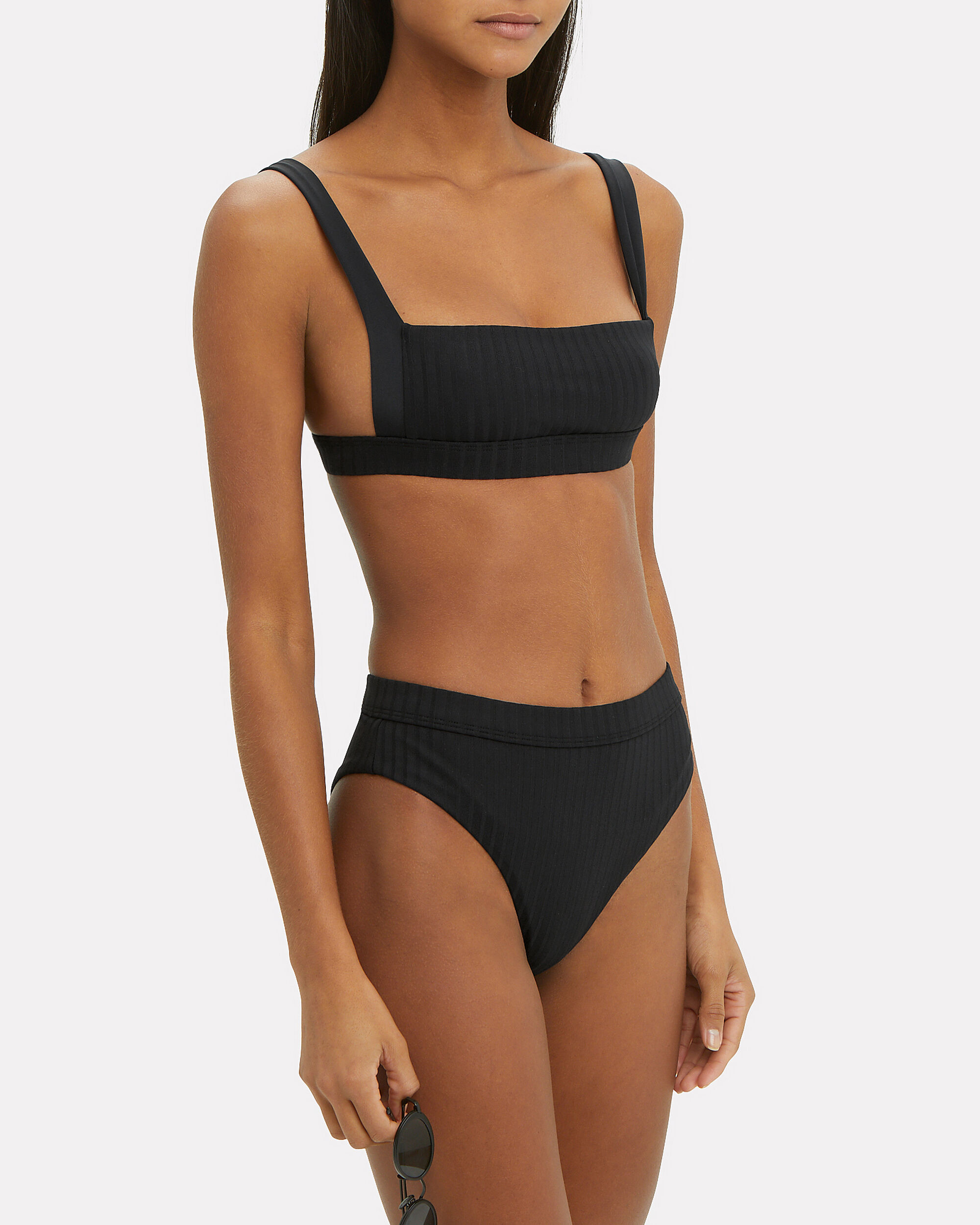 90 Degrees Crop Bikini Top, BLACK, hi-res