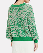 Charlize Leopard Print Sweater, GREEN, hi-res