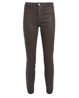 Margot High-Rise Coated Skinny Jeans, GREY, hi-res