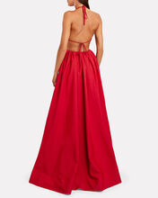 Georgia Halter Maxi Dress, RED, hi-res