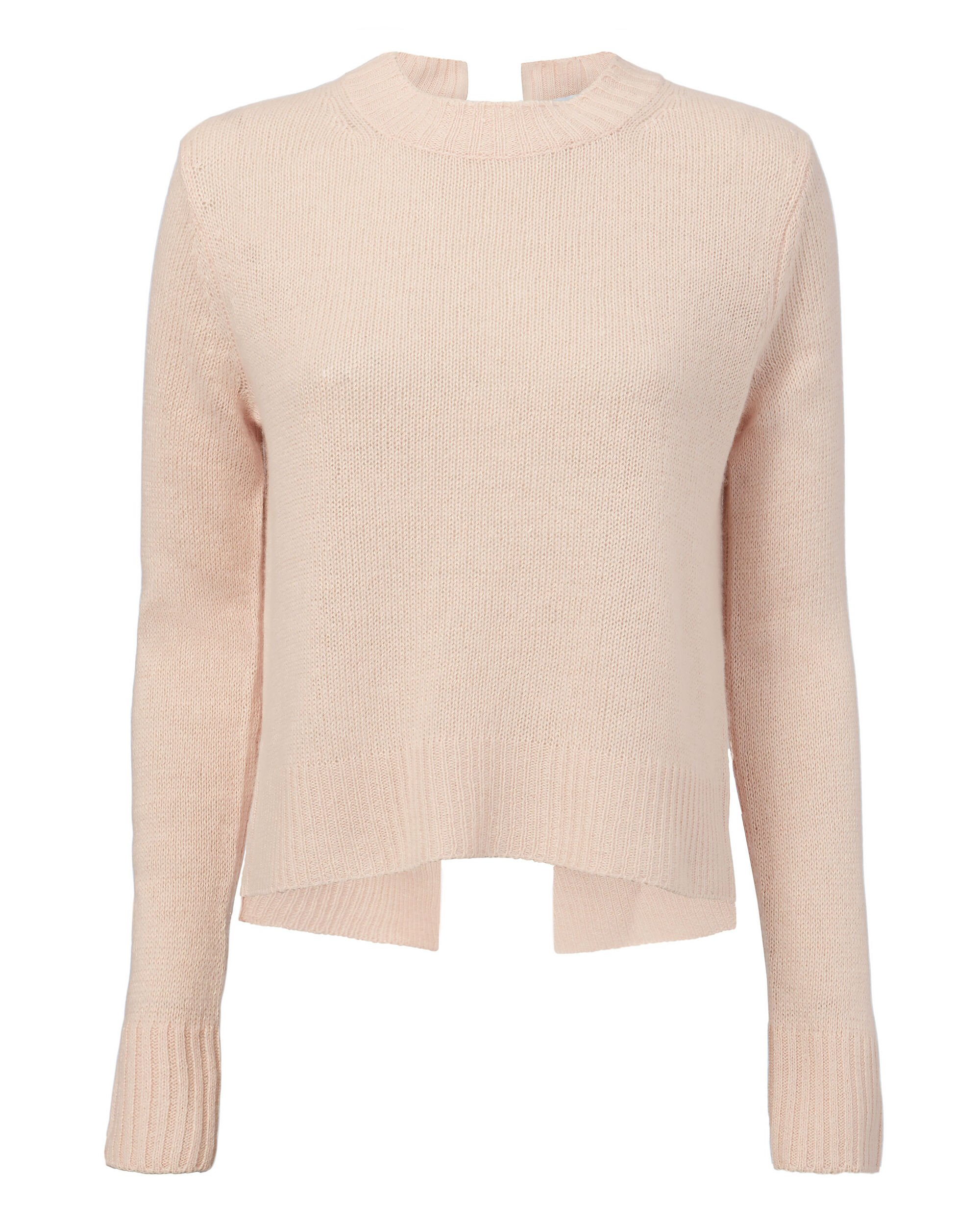 Cashmere Tie Back Sweater, PINK, hi-res
