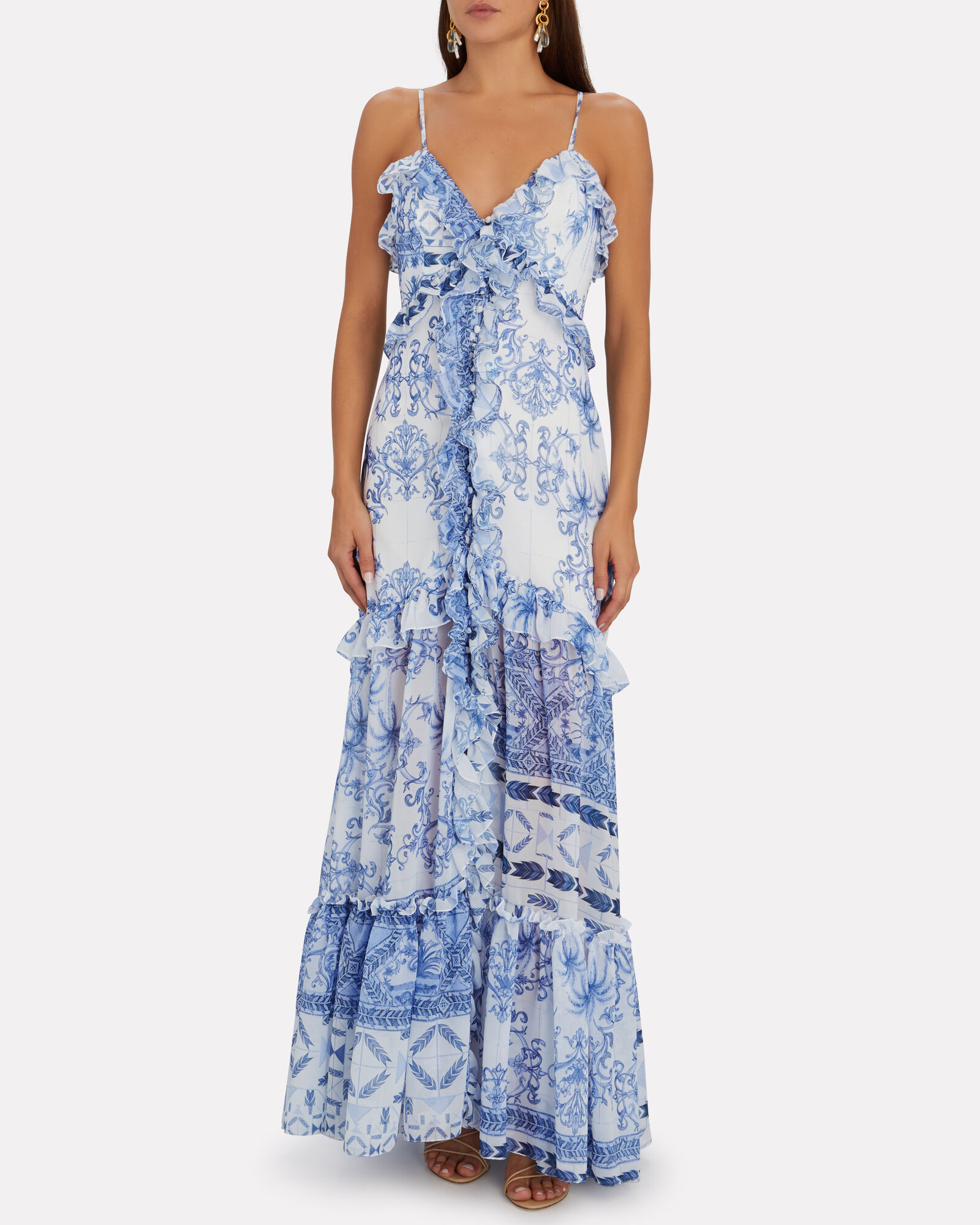 Amalfi Printed Maxi Dress, MULTI, hi-res