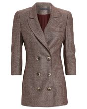 Double-Breasted Wool Blazer, BROWN, hi-res