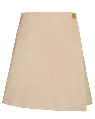 Bridgette Suede Mini Skirt, BEIGE, hi-res