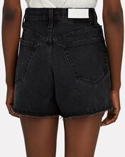 50s Cut-Off Denim Shorts, BLACK, hi-res