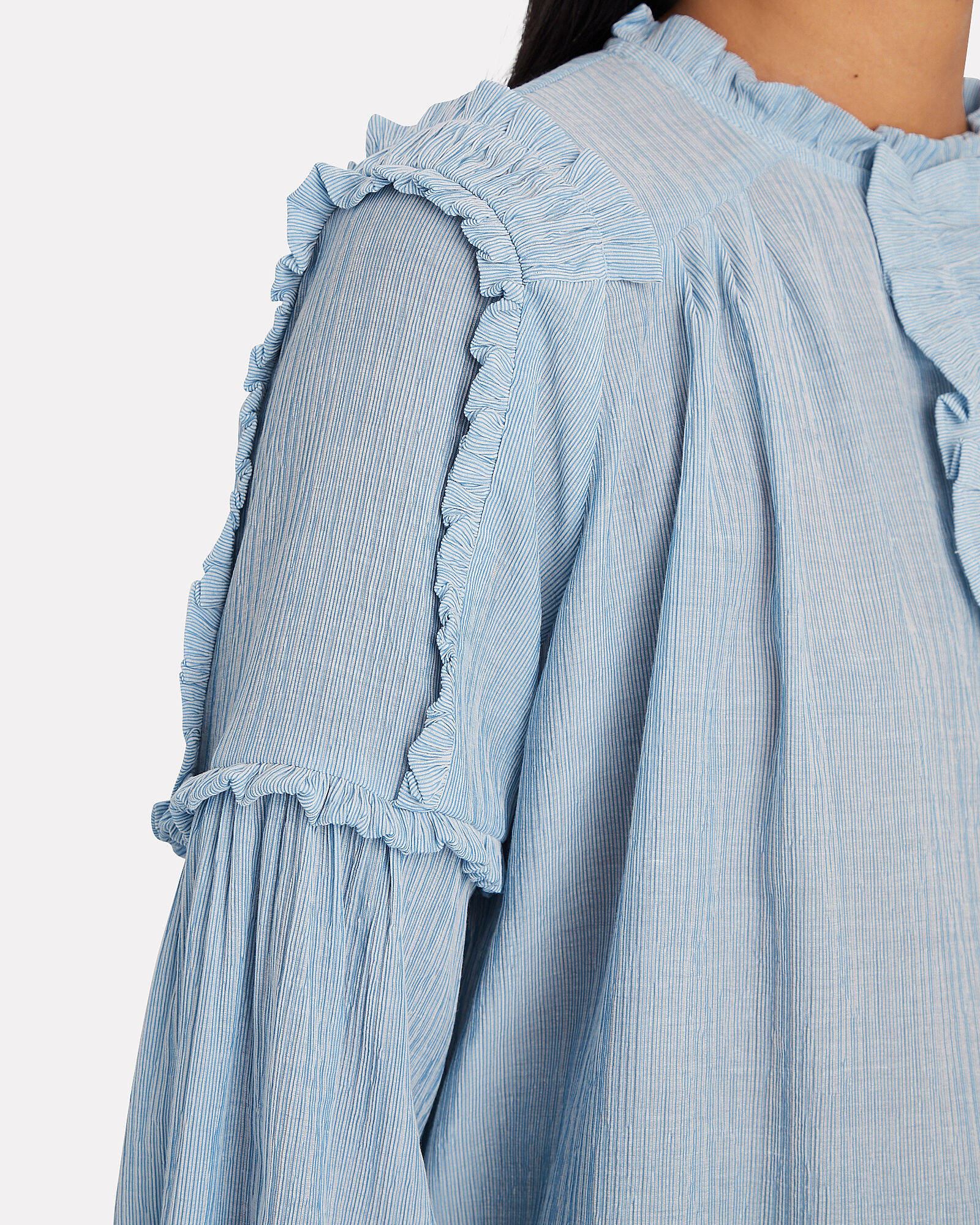 Ethan Ruffled Blouse, BLUE, hi-res