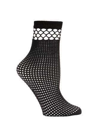 Net Ankle Socks, BLACK, hi-res