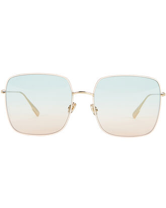 DiorStellaire1 Square Sunglasses, GREEN/PINK/GOLD, hi-res