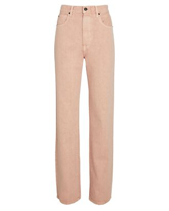 London High-Rise Straight-Leg Jeans, DUSTY PINK, hi-res