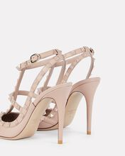 Rockstud Leather Pumps, BEIGE, hi-res