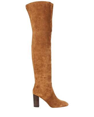Gianna Suede Over-the-Knee Boots, BROWN, hi-res