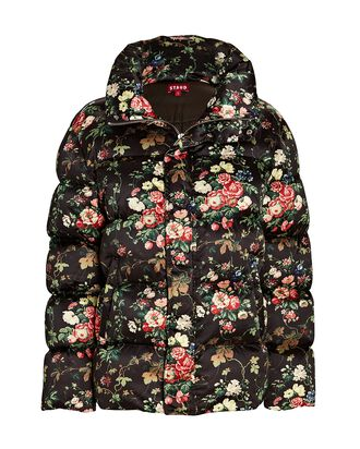 Ace Tapestry Floral Puffer Jacket, MULTI, hi-res