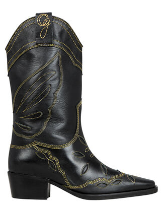 High Texas Western Boots, BLACK LEATHER, hi-res