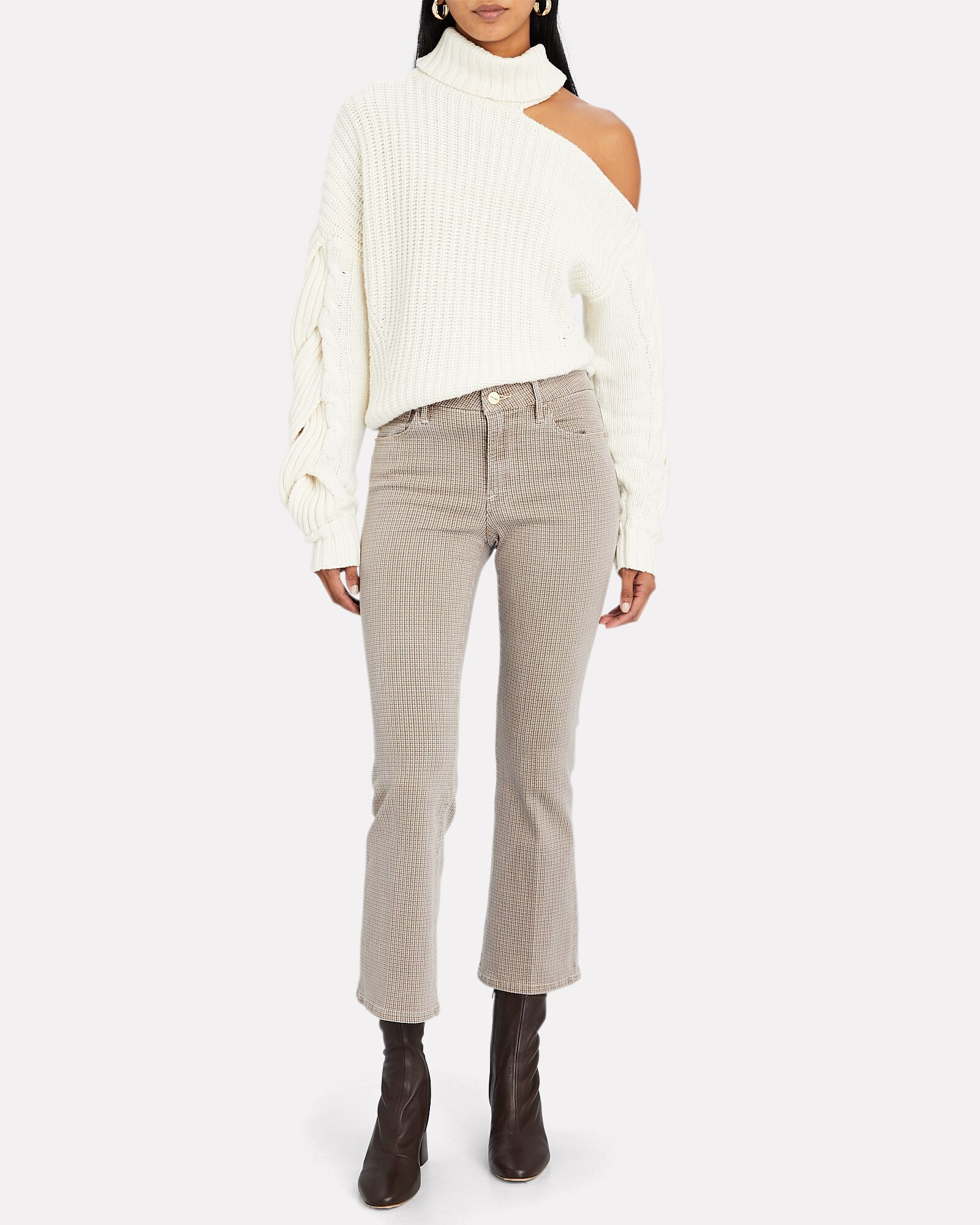 Le Crop Mini Boot Houndstooth Jeans, IVORY/BLUSH/GREY, hi-res