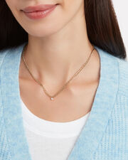 Diamond Small Curb Chain Necklace, GOLD, hi-res