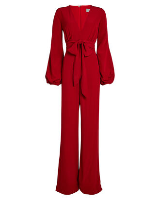 Faith Crepe Wide-Leg Jumpsuit, CRIMSON, hi-res