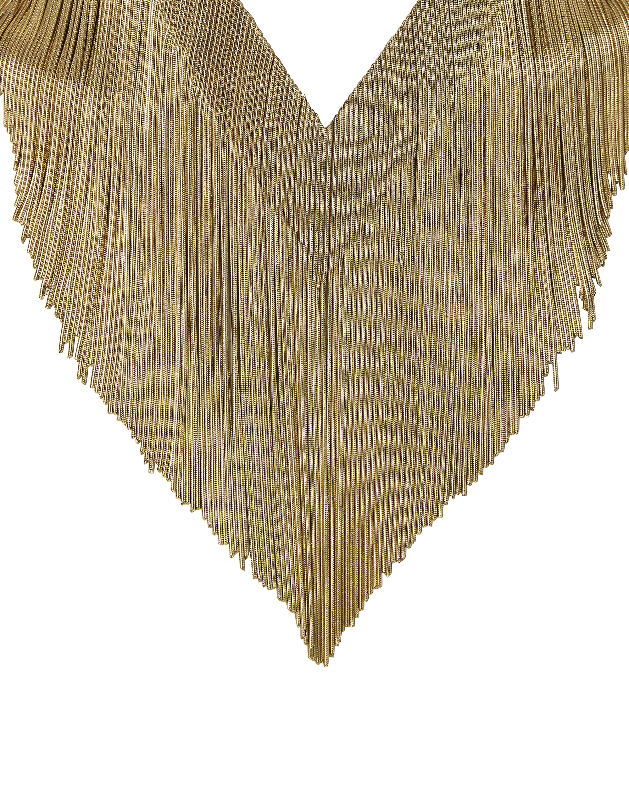 Ambra Gold Fringe Necklace       , GOLD, hi-res